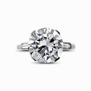 Round Brilliant Cut Diamond Solitaire Ring - 3.00ct